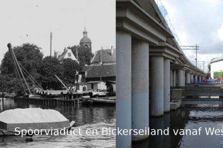 Spoorviaduct en Bickerseiland vanaf Westerdokskade.jpg